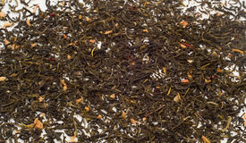 Foglie di tè verdi del gelsomino Fotografia Stock