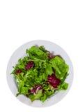 Foglie fresche dell'insalata mista Vista superiore Isolato Fotografia Stock Libera da Diritti