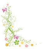 Foglie, molla, farfalle Immagini Stock