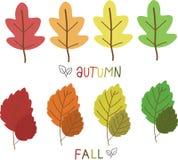 Foglie s per la stagione di caduta e di autunno illustrazione di stock