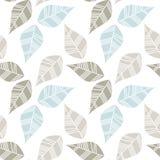 Foglie sudicie blu beige grige Fotografia Stock Libera da Diritti