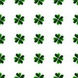 Foglie verdi del quadrifoglio dell'acquerello Priorità bassa di giorno della st Patrick carità Illustrazione dipinta a mano royalty illustrazione gratis