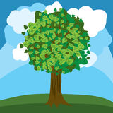 Foglie verdi di autunno dell'albero di vettore Fotografia Stock Libera da Diritti
