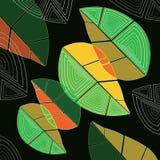 Foglie verdi e gialle astratte Fotografia Stock Libera da Diritti