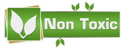 Foglie verdi non tossiche orizzontali Immagine Stock Libera da Diritti