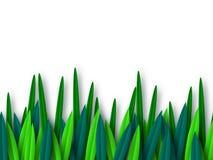 Foglie verdi tagliate di carta di stile isolate su bianco royalty illustrazione gratis