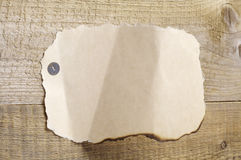Foglio bianco di vecchio documento violento Fotografie Stock Libere da Diritti