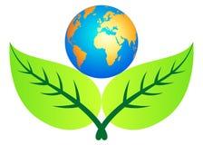 Foglio con il globo Immagine Stock Libera da Diritti
