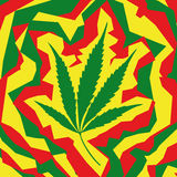 Foglio della marijuana (vettore) Immagini Stock Libere da Diritti