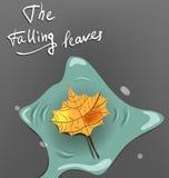 Foglio di autunno illustrazione vettoriale