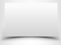 Foglio di carta bianco in bianco con ombra Fotografie Stock
