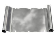 Foglio di carta in bianco d'argento con i bordi irregolari Fotografia Stock Libera da Diritti