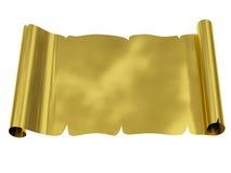 Foglio di carta in bianco dorato con i bordi irregolari Immagini Stock Libere da Diritti