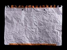 Foglio di carta bianco sgualcito Fotografia Stock