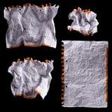 Foglio di carta bianco sgualcito Immagine Stock Libera da Diritti