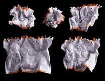 Foglio di carta bianco sgualcito Immagini Stock