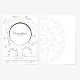 Foglio di carta decorativo con progettazione orientale Immagini Stock