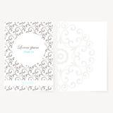 Foglio di carta decorativo con progettazione orientale Fotografia Stock