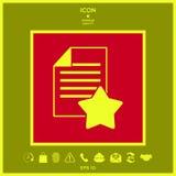 Foglio di carta della garanzia con una stella icona Fotografia Stock Libera da Diritti