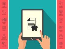 Foglio di carta della garanzia con una stella icona Immagini Stock Libere da Diritti