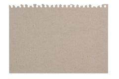 Foglio di carta lacerato da carta riciclata Fotografia Stock
