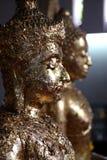 Foglio di oro e del Buddha Immagine Stock Libera da Diritti