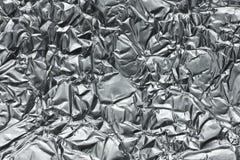 Foglio metallizzato sgualcito Immagine Stock Libera da Diritti