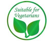 Foglio vegetariano Fotografie Stock Libere da Diritti