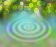 Foglio verde con goccia dell'acqua illustrazione di stock