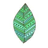 foglio verde del distintivo Progettazione della stampa della maglietta E Fotografie Stock Libere da Diritti