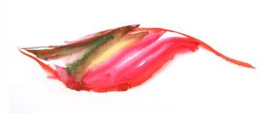 Foglio verniciato acquerello di autunno illustrazione vettoriale