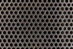 Fogna stridente d'acciaio della copertura Fotografia Stock