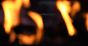 Fogo borrado do BBQ vídeos de arquivo