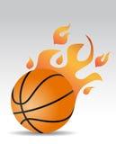 Fogo da bola do basquetebol Fotografia de Stock