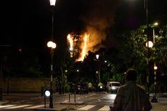 Fogo da torre de Grenfell Fotografia de Stock