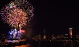 Fogo-de-artifício 10 de Boston Imagens de Stock