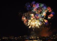 Fogo-de-artifício 2 de Boston Imagem de Stock