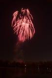 Fogo de artifício bonito em honra da Moscou Victory Day Parade Foto de Stock Royalty Free