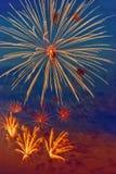 Fogo-de-artifício brilhante Foto de Stock