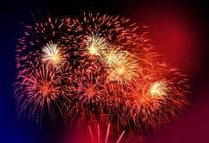 Fogo-de-artifício colorido bonito fotografia de stock royalty free