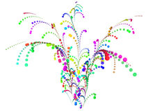Fogo-de-artifício colorido do confetti Ilustração do Vetor