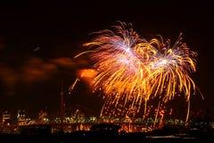 Fogo-de-artifício de Montreal imagens de stock
