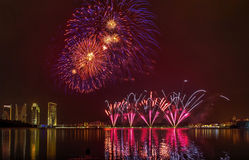 Fogo de artifício de Putrajaya Imagem de Stock Royalty Free