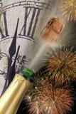 Fogo-de-artifício do ano novo Fotografia de Stock