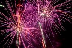 Fogo-de-artifício do ano novo Imagens de Stock Royalty Free