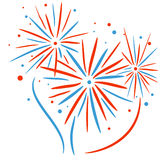Fogo de artifício do feriado Foto de Stock Royalty Free