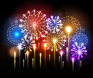 Fogo de artifício do feriado do vetor Fotografia de Stock