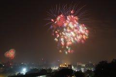 Fogo de artifício em Hanoi Fotografia de Stock Royalty Free
