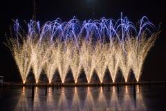 Fogo-de-artifício em Portugal fotografia de stock