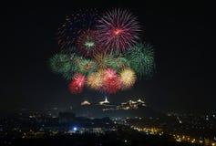 Fogo de artifício em Tailândia Fotos de Stock Royalty Free